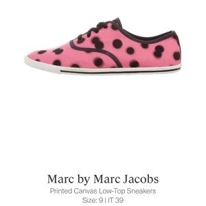 Marc Jacobs pink canvas sneakers